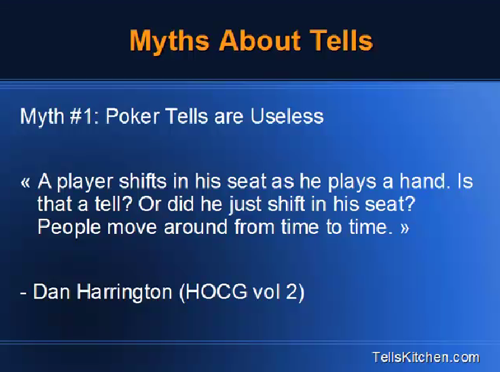 Poker Tells Mythes