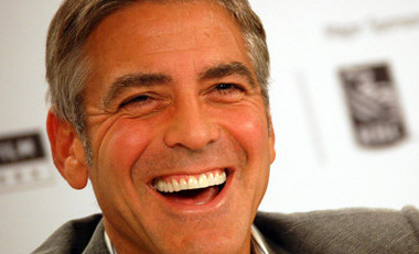 George Clooney genuine smile