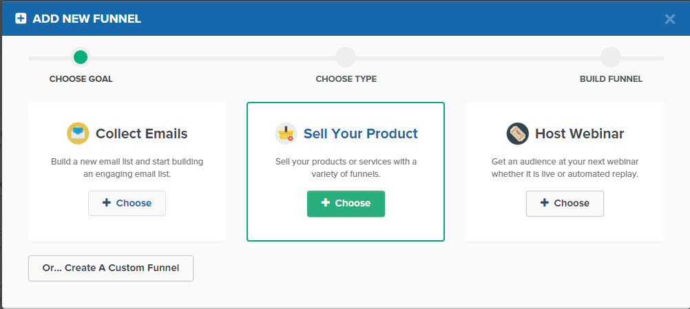 clickfunnels-select-funnel-type